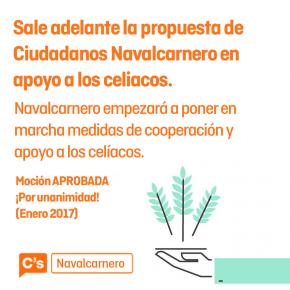 Aprobada en Pleno por UNANIMIDAD las medidas de CsNavalcarnero en ayuda a los Celíacos.