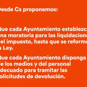 Cs Navalcarnero pide al Ayuntamiento de Navalcarnero que devuelva el dinero a los vecinos que pagaron el impuesto de plusvalía municipal por pérdidas.