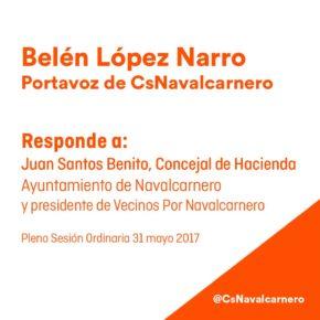 Belén López Narro, Portavoz de CsNavalcarnero responde al Concejal de Hacienda sobre petición de devolución de Plusvalías