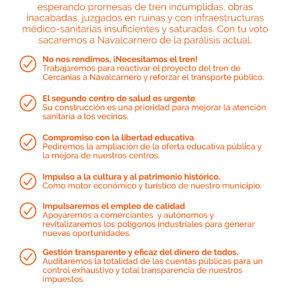 Programa Electoral de CsNavalcarnero Elecciones Municipales 2019
